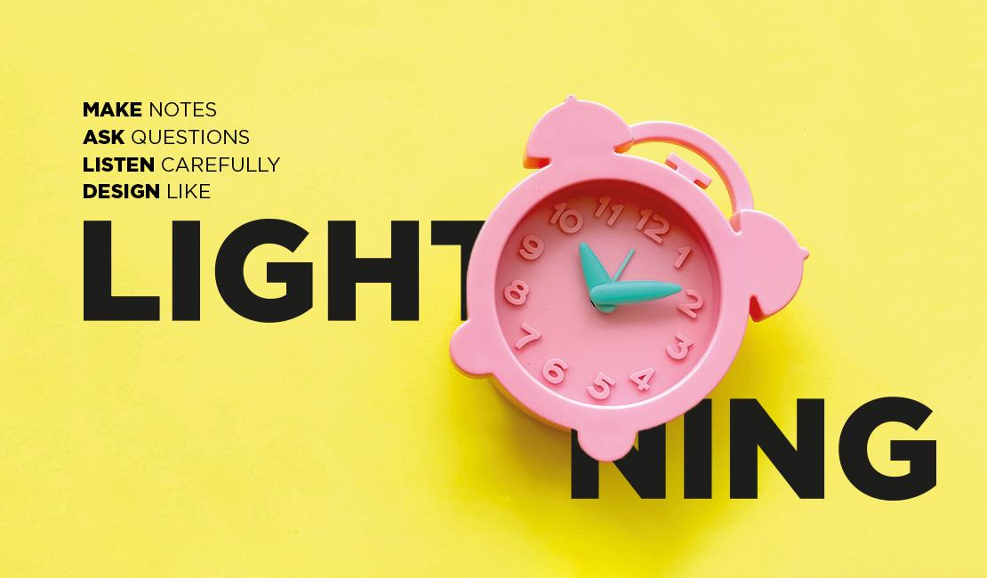 design like lightening