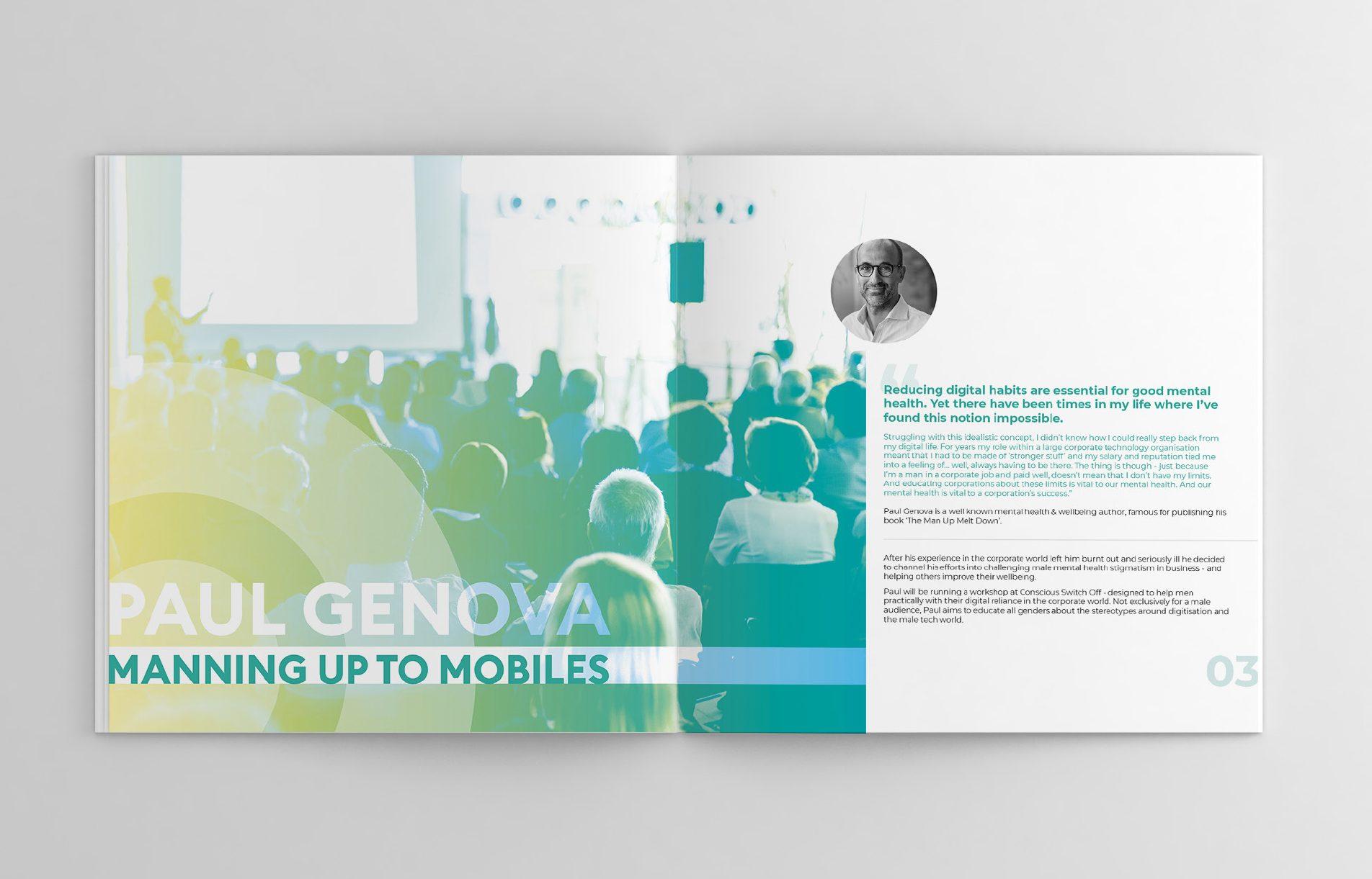Event booklet including details of the keynote speaker