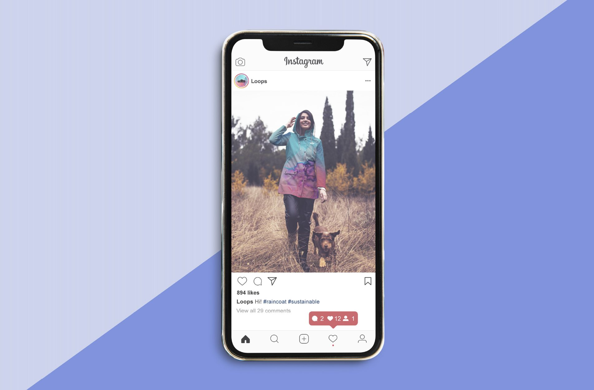instagram posts for an apparel company