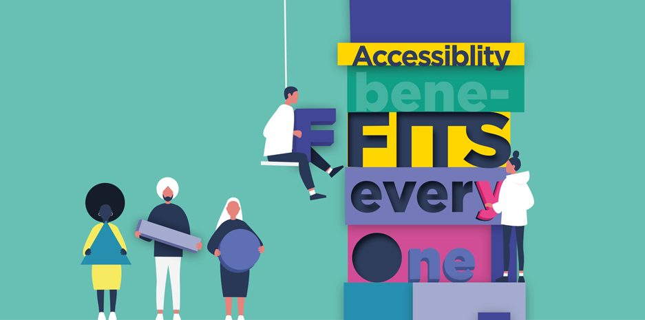 Visualisation of individuals building a title - Accessibility benefits everyone