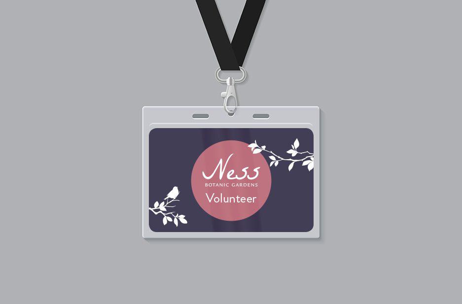 Ness Gardens Volunteer lanyard card