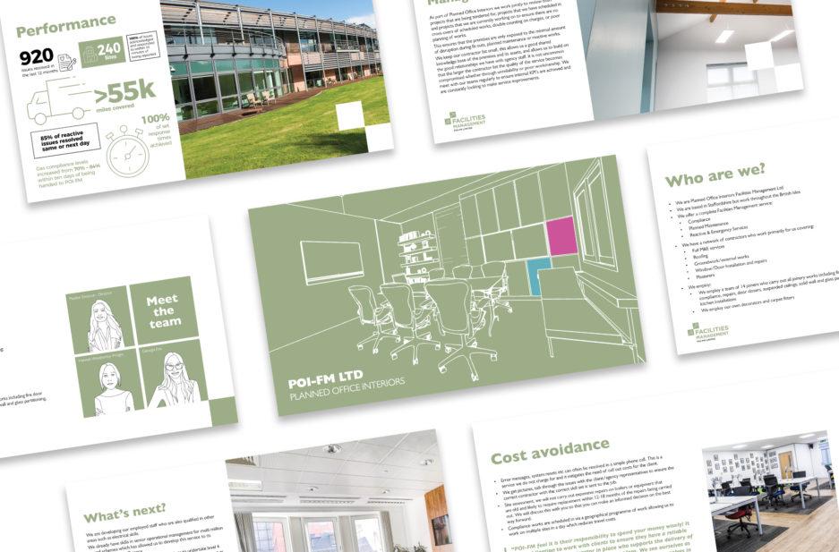 POI case study page Facilities Management presentation