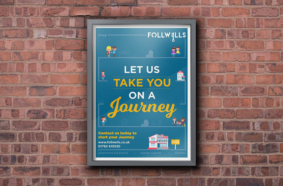 Follwells 'Let us take you on a journey' large format poster