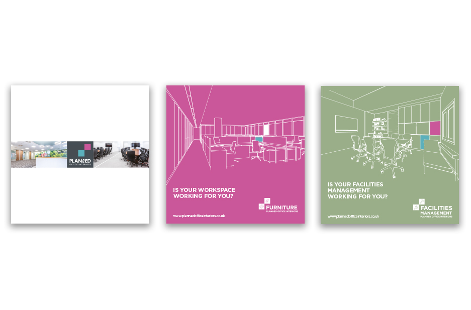 POI case study page Main brochure covers
