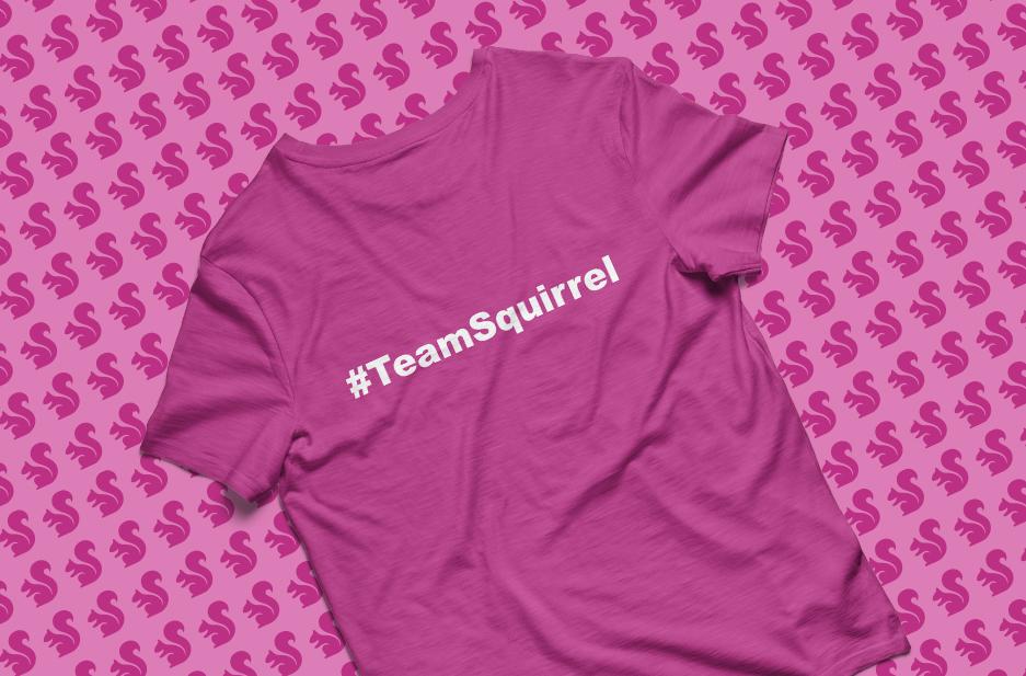 Keele University 'Team Squirrel' Tshirt design