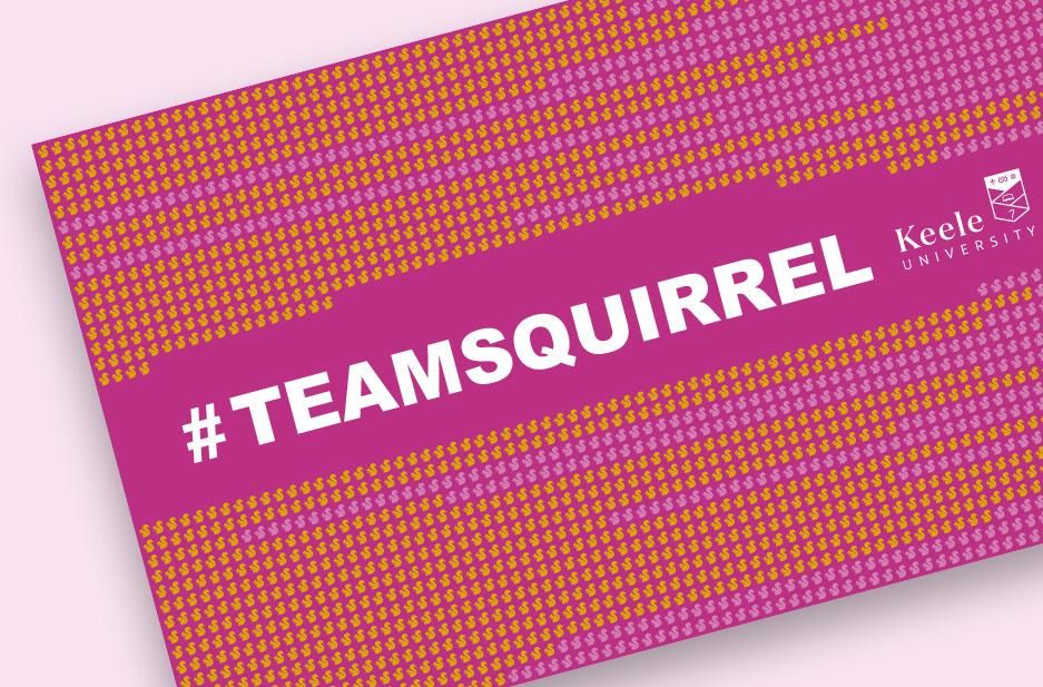 Keele University 'Team Squirrel' banner design