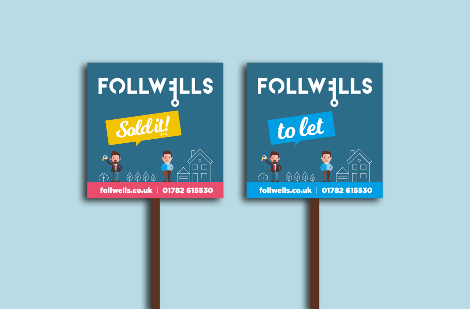 Follwells 'For Sale' and 'Sold' Signs