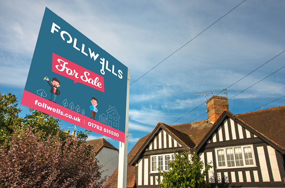 Follwells For Sale sign outside of house