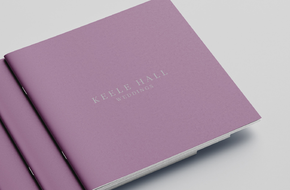 Keele University Conference and Events Wedding brochure cover
