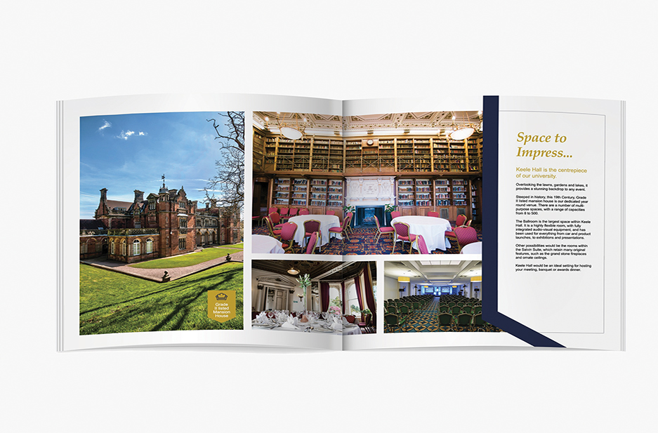 Keele University Conference and Events Main brochure spread