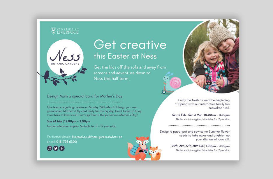 Ness Gardens Magazine flyer for Easter Event