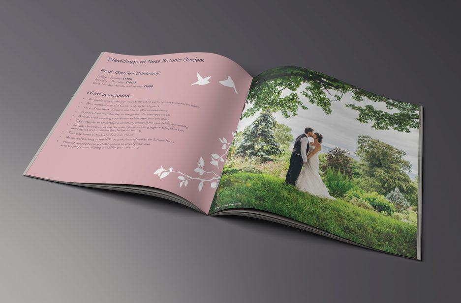 Ness Gardens Weddings brochure spread