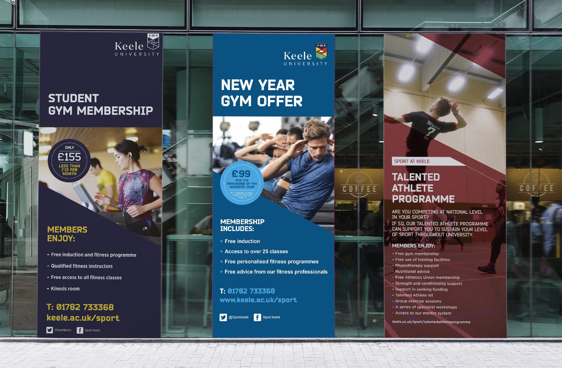 Keele University Sports Centre Exhibition banners