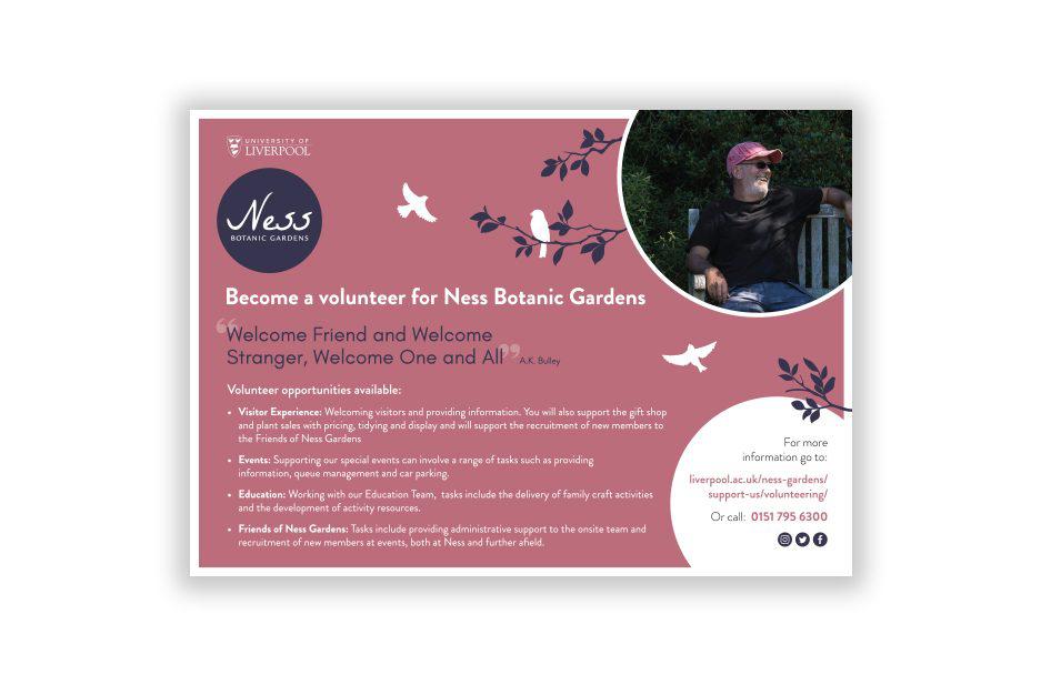 Ness Gardens Volunteer flyer