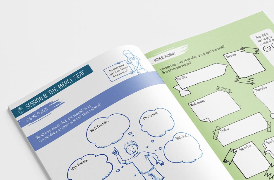 Salvation Army 'Mobilise' Activity workbook spread