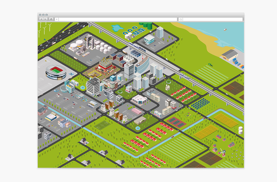 T-T website Isometric map