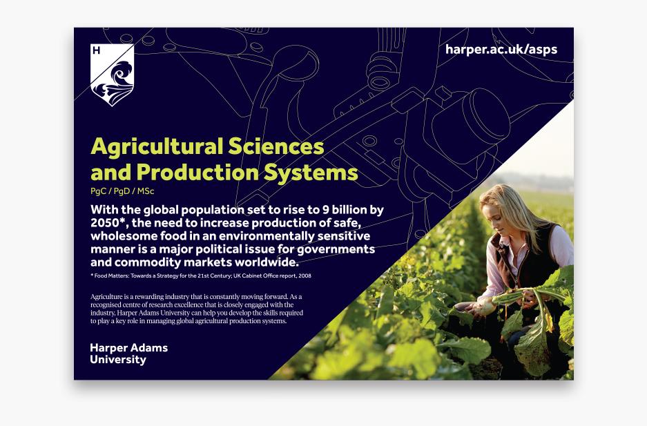 Harper Adams Course 'Agricultural Science' flyer