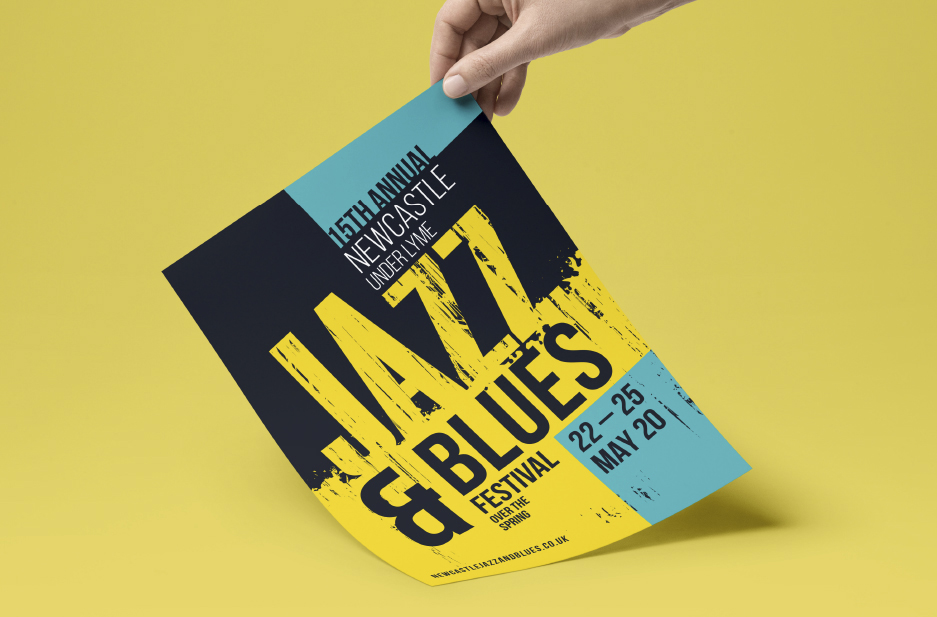 Newcastle-under-Lyme BID 'Jazz and Blues' poster