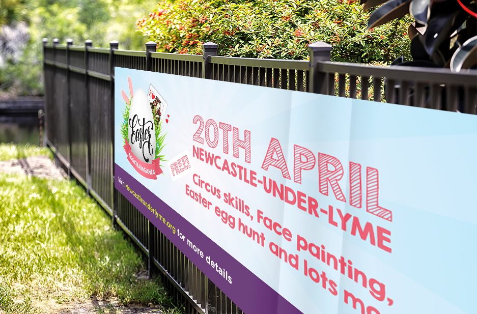 Newcastle-under-Lyme BID 'Easter' Roadside banner