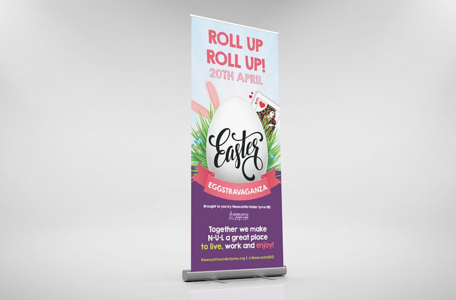Newcastle-under-Lyme BID 'Easter' Exhibition banner