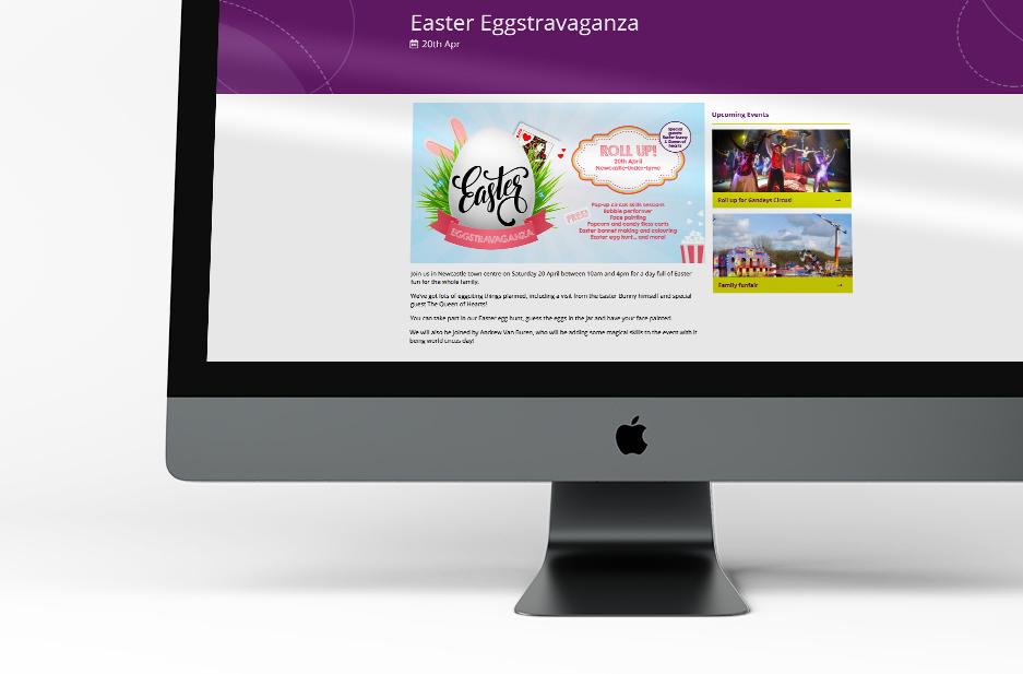Newcastle-under-Lyme BID 'Easter' Event thumbnail on website