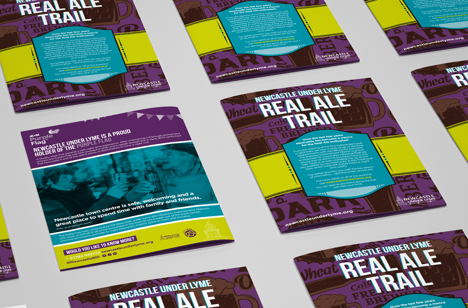 Newcastle-under-Lyme BID 'Real Ale' event booklet