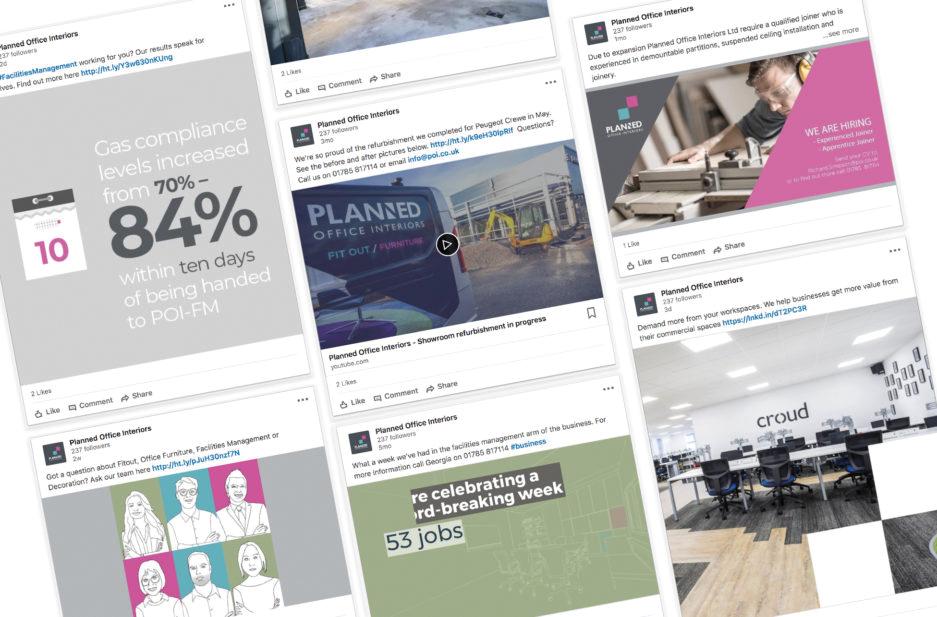 POI case study page Social media tiles