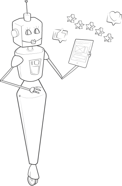 Digital Service - Sylvie robot illustration