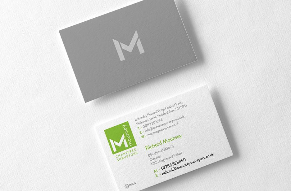 Mouney business card design