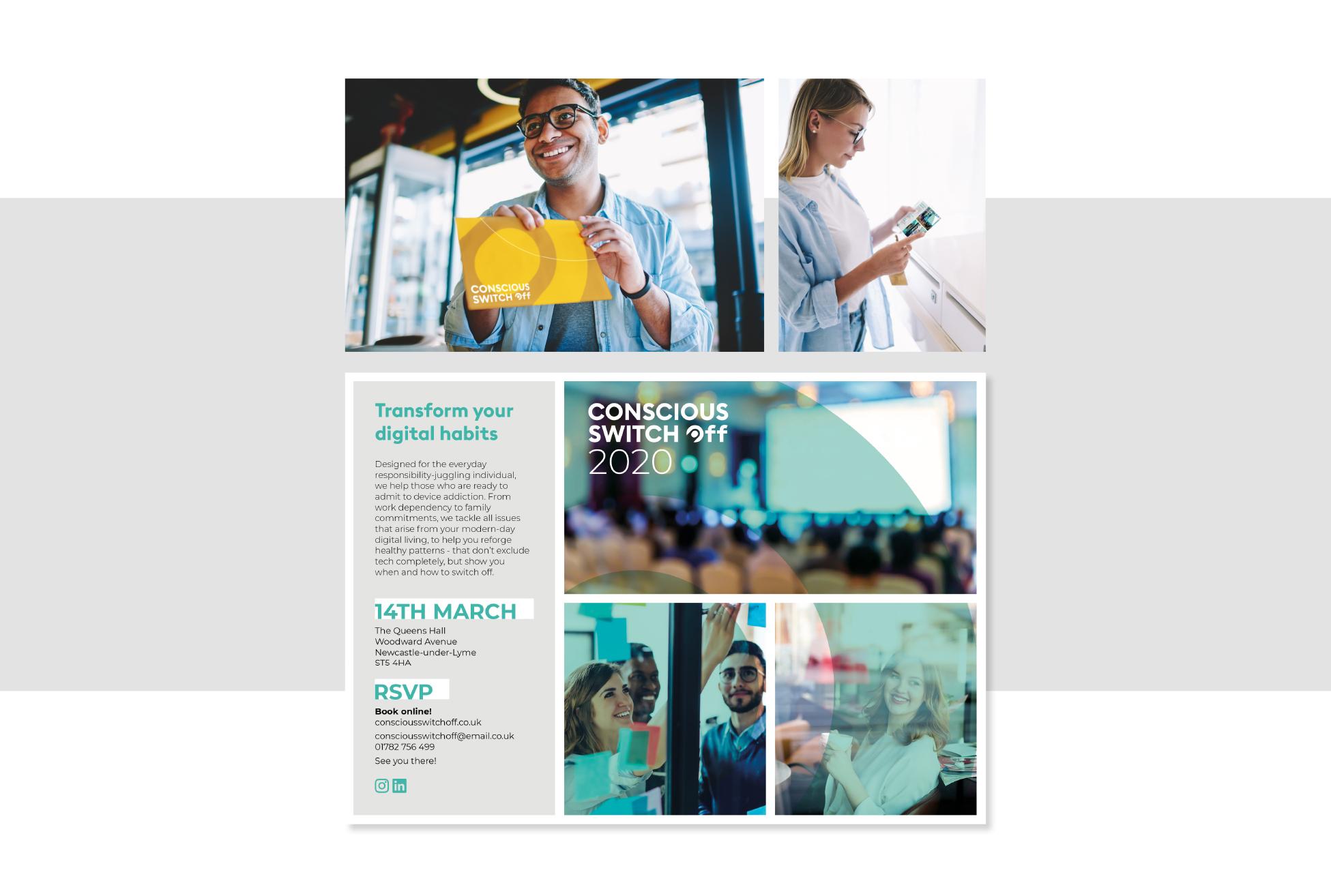 Transform your digital habits - promotional flyer