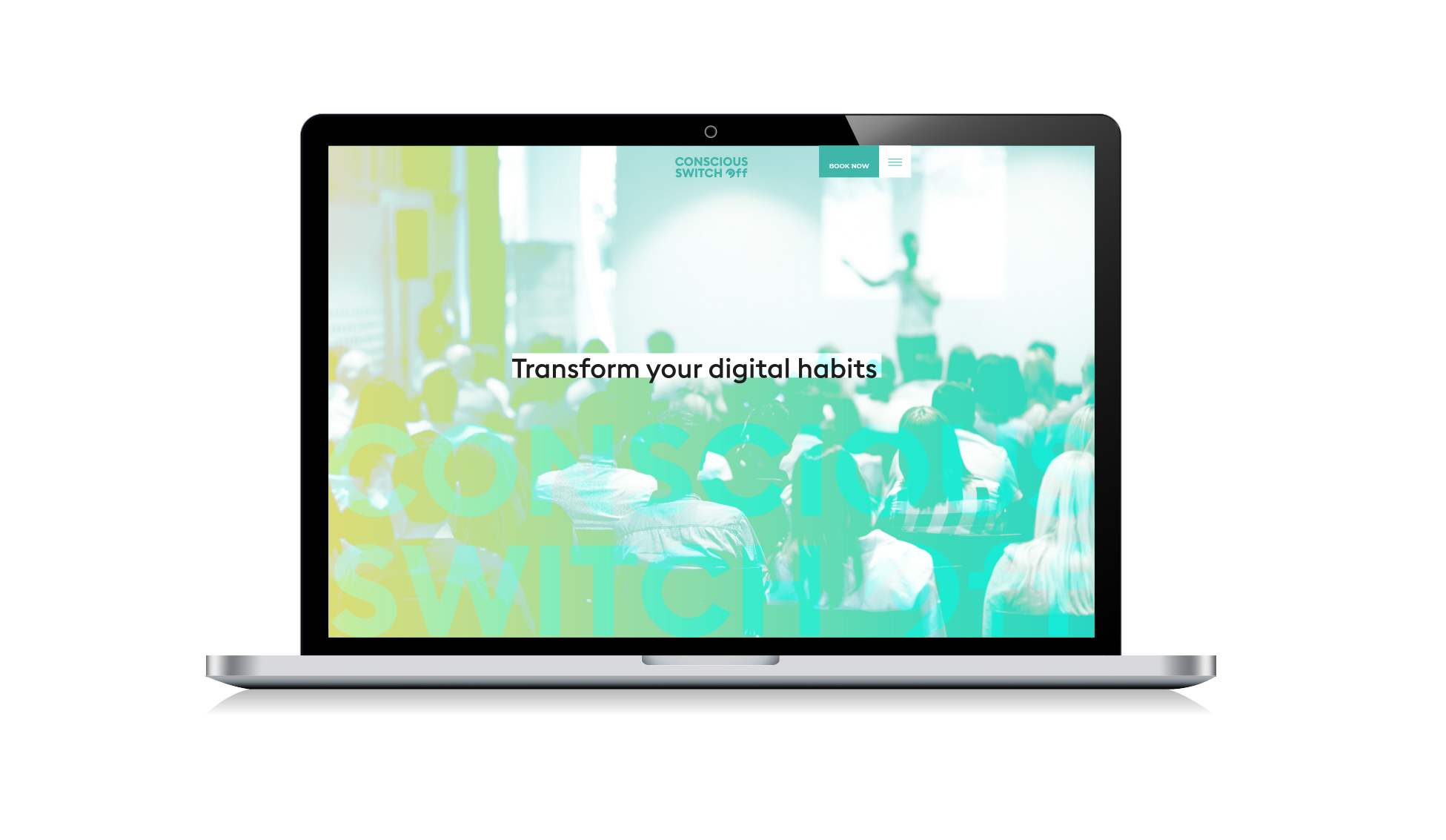 Transform your digital habits - website mock up